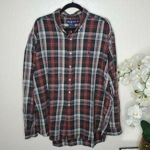 Ralph Lauren Blake Flannel Plaid Shirt Long Sleeve